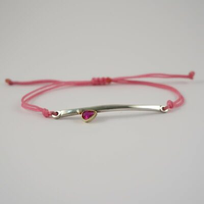 EYA DROP PINK RUBY BRACELET